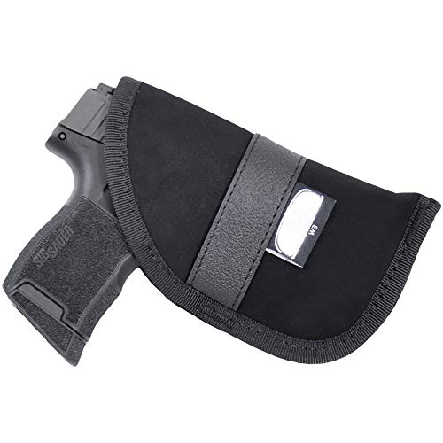 Black Scorpion BSGPNW3 Ambidextrous Neoprene IWB and Pocket Holster - Concealment - Nylon Synthetic - Fit for Sig P365 Most 380 Auto