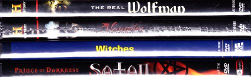 The History Channel : The Real Wolfman the History of Werewolves , Vampire Secrets the History of Vampires , Ancient Mysteries Witches the History of Witchcraft , Biography Satan the History of the Devil : Haunted Halloween 4 Pack Collection -