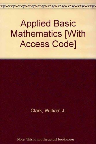 Applied Basic Mathematics with MathXL (12-month access) (2nd Edition)