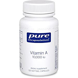 Pure Encapsulations Vitamin A 10,000 i.u. 120 [Health and Beauty]