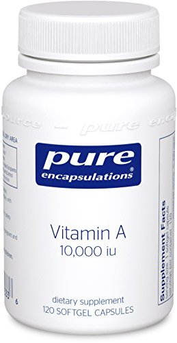 Pure Encapsulations - Vitamin A 10,000 IU - Supports Vision, Growth, Reproductive Function, Immunity, Skin and Mucous Membranes* - 120 Softgel - 120 Growth Natural Capsules Hormone