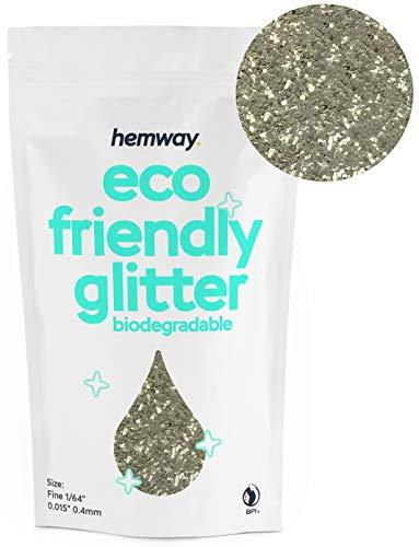 Hemway Umweltfreundlicher Biologisch Abbaubarer Glitter Zart 0 4 Mm 1 64 0 015 Unze Bio Kosmetik Sicher 100 G Champagner Beauty
