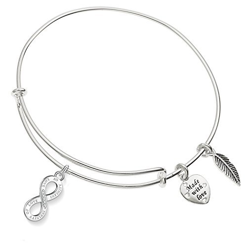Enni of York ''INFINITY OF LOVE'' Expandable Bangle Bracelet