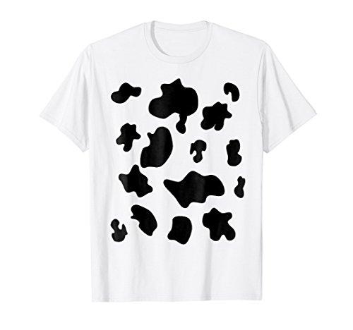 Mens Last Minute Halloween Costume Shirt Cow Pattern