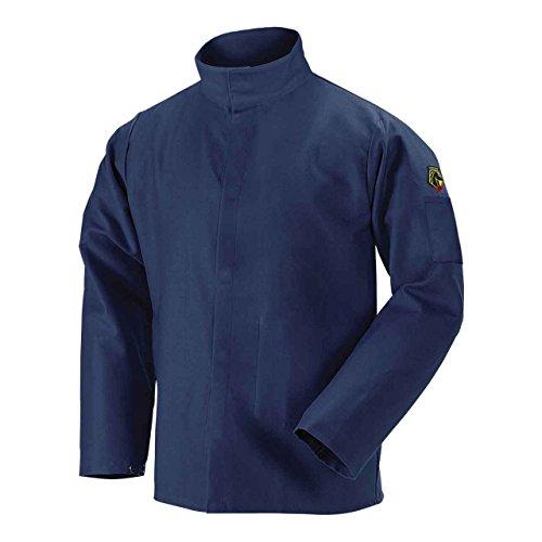 Black Stallion JF4520 Premium FR Lenzing Welding Jacket, Navy, Large by Black Stallion