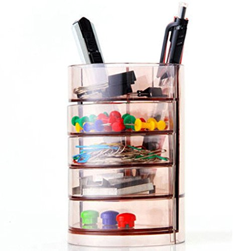 MONOMONO-Desktop Drawer Organizer Pen Pencil Holder MakeUp Storage Box Office - Crystal Address Mall