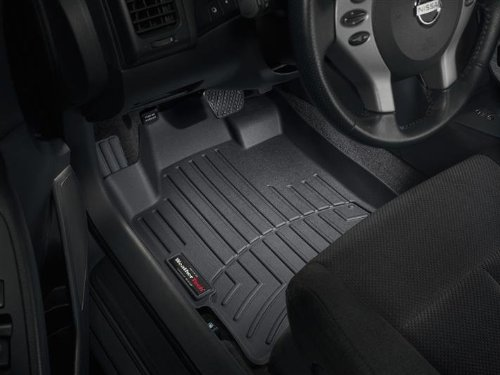 Black WeatherTech Custom Fit Front-Row FloorLiner for Nissan Altima 441181