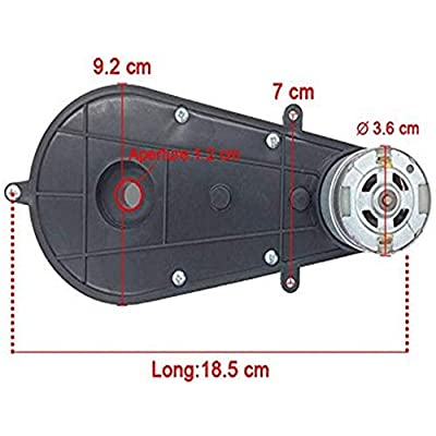 weelye 24V550 30000RPM Gearbox with High Torque 24V DC Motor for Kids Ride on Car SUV Parts, Electric Motor with Gear Box High Speed RS550 DC Motor Match Children Ride on Toys Accessories: Toys & Games