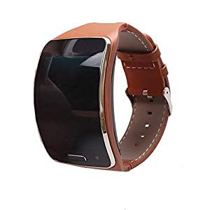 Samsung Watch Band, Fashion Colorful Replacement Watch Wrist Leather Watch Band Strap, Replacement Bracelet Wristband for Samsung Galaxy Gear S R750