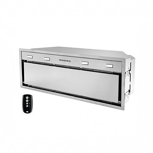 Futuro Futuro Insert-Liner 42 Inch Wall-mount / In-Cabinet Range Hood, Remote Control, LED, Ultra-Quiet, with Blower - Range Hood Remote Blower