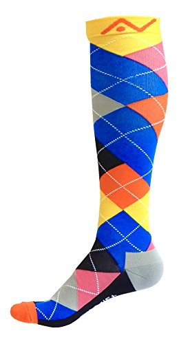 - Compression Socks (1 pair) for Women & Men (Ardent Argyle, S/M)