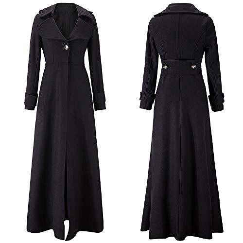 Blouson Femme Veste Section De ❤️manteau amlaiworld Laine Emmes Revers Fit Outwear Noir Parka Hiver Et Mince Manteau Tranchée Longue Slim 4wA5qqxE
