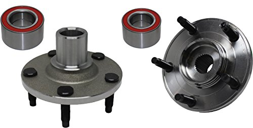 Brand New (Both) Front Wheel Hub and Bearing Assembly fits Escape Mariner Tribute 5 Lug (Pair) 518515 x 2 - Front Wheel Hub Nut