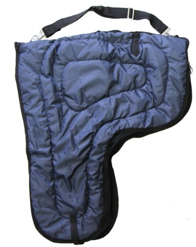 Lined Saddle (Western Horse Saddle Carrier Cover Large Bag Fully Lined and Padded Navy Blue)