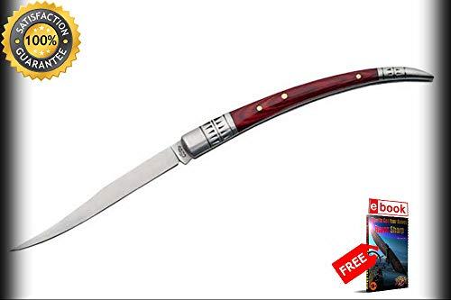 FOLDING POCKET Sharp KNIFE Rite Edge 5'' Spanish Fruit Melon Sampler Tester Stainless Combat Tactical Knife + eBOOK by Moon Knives