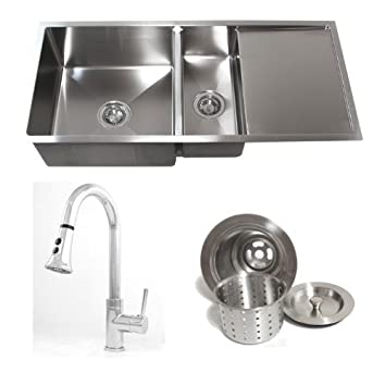 42 Inch Stainless Steel Undermount Double Bowl Kitchen Sink ...