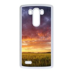 Hungary Grain Fields Dramatic Sky LG G3 Cell Phone Case White Exquisite gift (SA_592553)