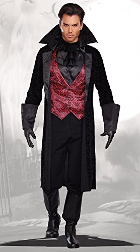 Dreamgirl Men's Bloody Handsome Costume, Black/Red, Medium
