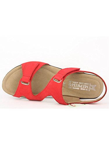 Mephisto PARIS BUCKSOFT 6975 STRAWBERRY, Damen Sandalen, Rot (STRAWBERRY), 36 EU (3 Damen UK) …
