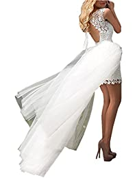 Amazon Com High Low Wedding Dresses Wedding Party Clothing