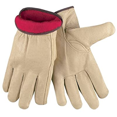 Aviditi GLV1062XL Pigskin Leather Drivers Gloves Lined, X-Large, Tan (Case of 6)
