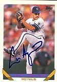 Luis Aquino autographed Baseball Card (Kansas City Royals) 1993 Topps #643