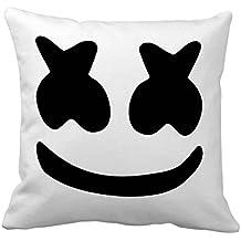 Dj Marshmello Face Pillow cover Size 16x16 inch