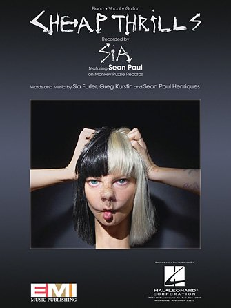 Cheap Thrills by Sia and Sean Paul: Piano/Vocal/Guitar