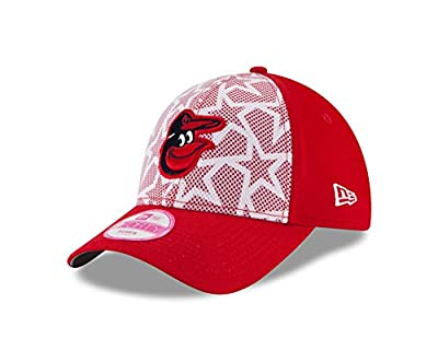 Women's Baltimore Orioles New Era 2016 Stars & Stripes 9FORTY Adjustable Hat
