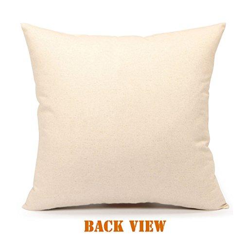 Red Black Buffalo Plaids Deer Throw Pillow Cover Christmas Cushion Case Winter Home Decorative 18 x 18 Inch Cotton Linen