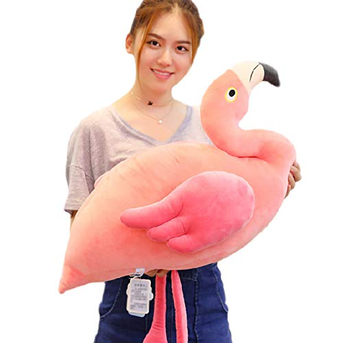 DONGER Spielzeugpuppe Flamingo Kissen Pulver Große Puppe Schlafkissen Süß, Rosa, 70 cm In Voller Länge 50 Cm Rosa