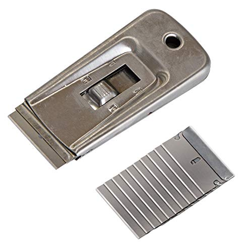 Ehdis Window Film Tool Stainless Retractable Razor Blade Scraper with 10 Blades for Removing Registration, Paint, Decals, Adhesive and -