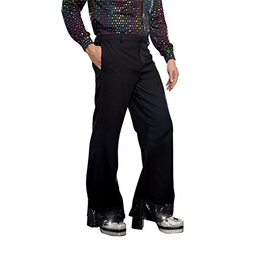 Legged One Costume Man (Dreamgirl Men's Disco Pant, Black,)