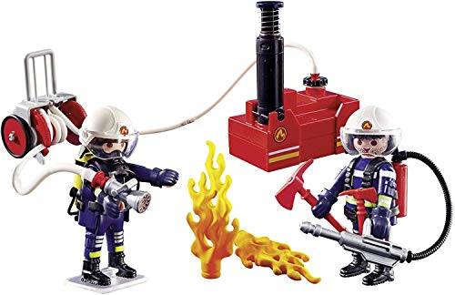 PLAYMOBIL 40 Piece Firefighters with Water Pump