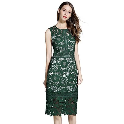well-wreapped VEIISAR Women's Fashion Sleeveless Lace