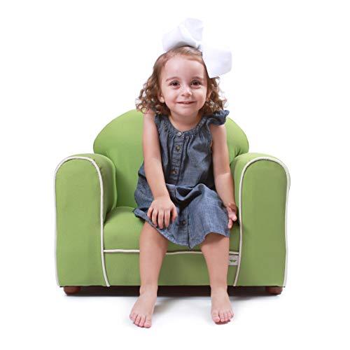 Twill Organic Fabric - Keet Premium Organic Children's Chair, Green