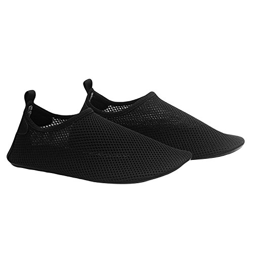 1 Pair Unisex Lightweight Breathable Mesh Barefoot Water Socks Shoes Aqua Skin Socks Flexible for Beach Swim Surf Yoga Exercise Size L XQ8Bu