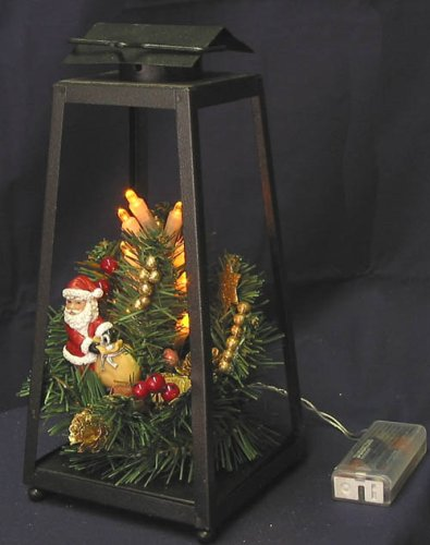 Christmas Lantern.Kfk Christmas Lantern With Santa