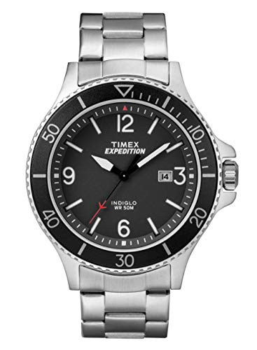 Timex Men's Expedition Ranger Black Dial with a Stainless Steel Bracelet Watch - Black Bracelet Womens Steel Dial
