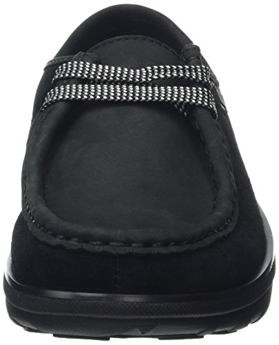 Fitflop Loaff Tm Lace Up Moc Sneaker a collo basso, Donna, Nero, 36 EU (3 UK)