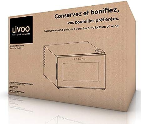 Livoo - Vinoteca para 8 botellas GS141 Negro[Clase de eficiencia energética A]