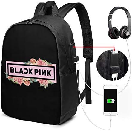 ビジネスリュック ブラックピンク Blackpink メンズバックパック 手提げ リュック バックパックリュック 通勤 出張 大容量 イヤホンポート USB充電ポート付き 防水 PC収納 通勤 出張 旅行 通学 男女兼用