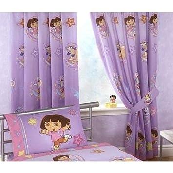 Amazon.com: Childrens/Kids Girls Dora The Explorer Curtains Set ...