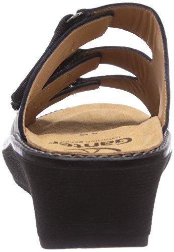 Ganter GRACIA, Weite G - zuecos de cuero mujer gris - Grau (schwarz 0100)