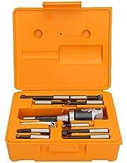 Juego de cabezales de mandrinar 13 piezas Acero al carbono Inglés R8 Barra de mandrinar Torno CNC Proceso F1 0.001 '' 7/16-20UNF Juego con llave hexagonal