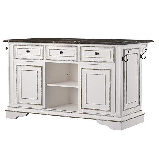 Kitchen Liberty Furniture Industries Magnolia Manor Kitchen Island with Granite, White modern kitchen islands and carts