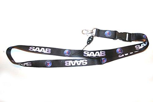 SAAB Logo Color Lanyard Keychain Holder