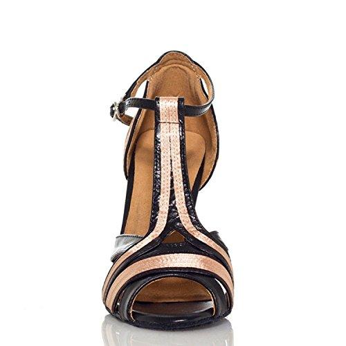 10cm Black Salle Miyoopark bal 35 heel femme de Nude beige XgSnS0xF