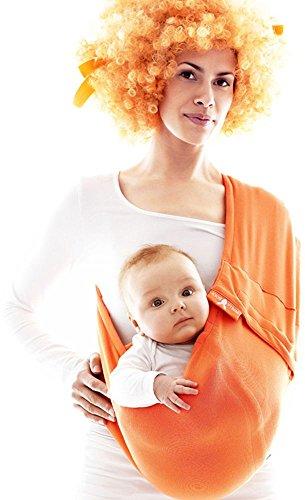 Wallaboo Connection - Bandolera portabebé de algodón, 3 en 1 honda del bebé, para bebés de 3.5 kg a 15 kg, transpirable y usable los cuatro estaciones 2