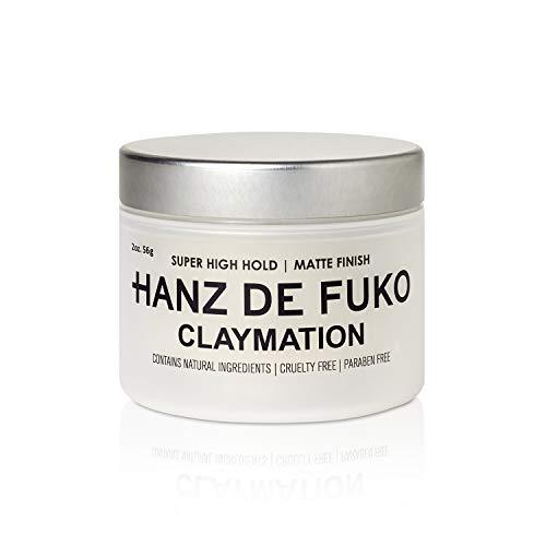 Hanz de Fuko Claymation- Premium Mens Hair Styling Clay with Matte Finish (2 oz) Cruelty Free 1
